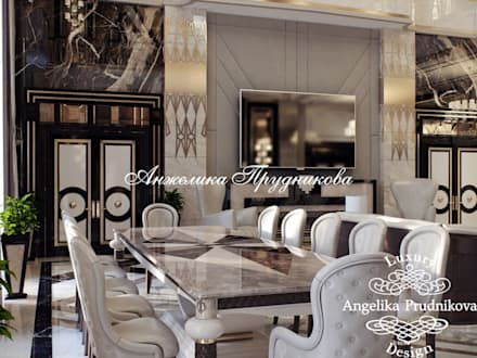 Дизайн-проект интерьера виллы в Майами: Гостиная в . Автор – Дизайн-студия элитных интерьеров Анжелики Прудниковой