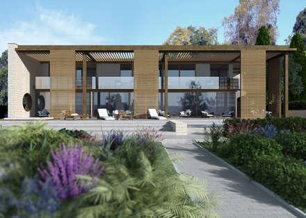 Carina House - progetto abitazione privata a cura dell'arch. Zaetta (Feltre): Villa in stile  di MM Rendering Studio