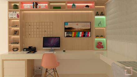 غرفة نوم مراهقين  تنفيذ Tatiana Guimarães Arquitetura