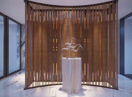 Long Beach center Penthouse - Phu Quoc:  Hành lang by Archifix Design