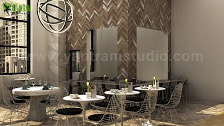 Grant Hawana Interior Modern Rendering Design Ideas: classic Dining room by Yantram Architectural Design Studio