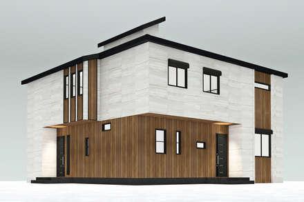 HOUSE UCHIYAMA: Casa unifamiliare in stile  di Studio Maiden