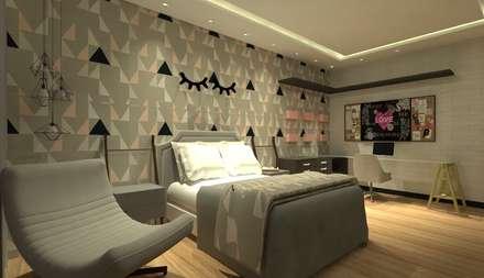 غرفة نوم مراهقين  تنفيذ GABRIELA GUERREIRO | ARQUITETURA
