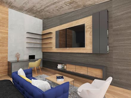 modern Media room by emARTquitectura