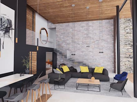 modern Living room by emARTquitectura