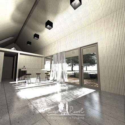 Casa Modular Térmica: Livings de estilo rural por casa rural