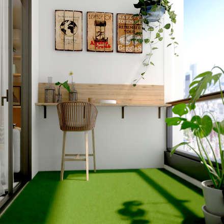 Giardino in stile in stile Scandinavo di Norm designhaus