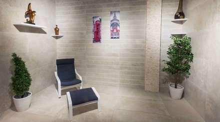 غرفة جلوس هادئة:  غرفة المعيشة تنفيذ بيت الإباء