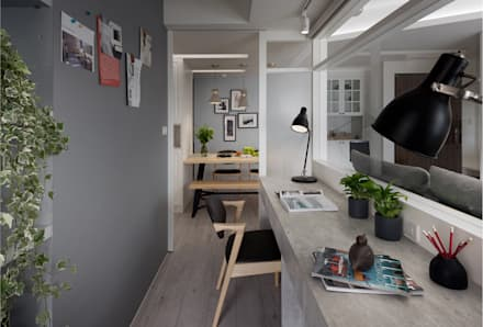 scandinavian Study/office by 寓子設計