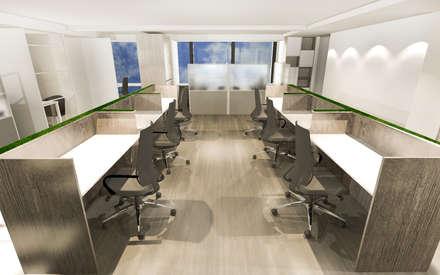 天使國際商務中心:  書房/辦公室 by 司創仁和匯鉅設計有限公司