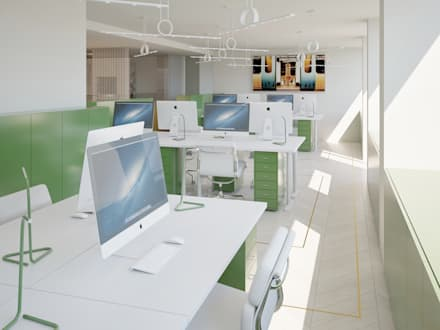 Family Office Avenida da Liberdade: Escritórios  por Inêz Fino Interiors, LDA