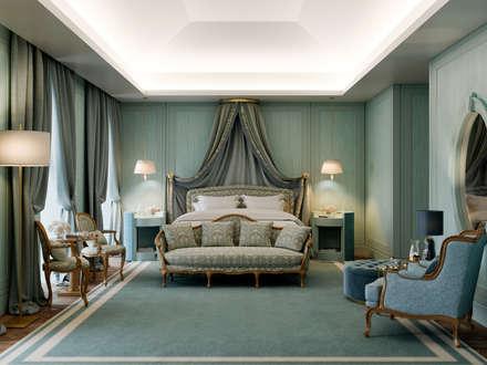 5 Star, 75 room hotel, Praça da Alegria, Lisbon: Hotéis  por Inêz Fino Interiors, LDA