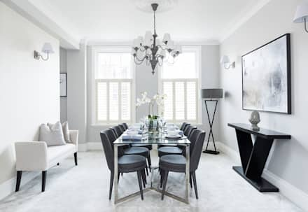 South Kensington Flat: classic Dining room by London Home Staging Ltd