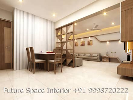 Residential Interiors: tropical Dining room by Future Space Interior