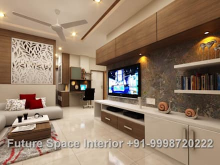 Residential Interiors: tropical Living room by Future Space Interior