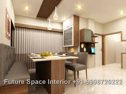Residential Interiors: asian Dining room by Future Space Interior