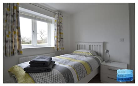 Holiday Rental: scandinavian Bedroom by Louise Misell Interiors
