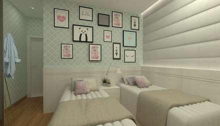 Kamar tidur anak perempuan by GABRIELA GUERREIRO | ARQUITETURA