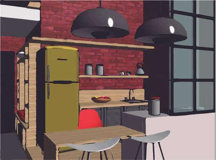 LOFT INDUSTRIAL: Cocinas de estilo industrial por Granada Design