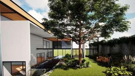 Laghetto da giardino in stile  di GCL Ingeniería y Proyectos