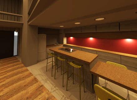 LOFT: Cocinas de estilo industrial por Granada Design