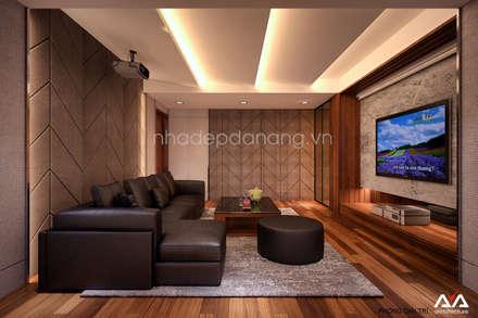 Mẫu thiết kế biệt thự đẹp:  Phòng giải trí by AVA Architecture