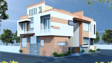 Modern Residence (40x60 ) in Jodhpur :  Villas by RAVI - NUPUR ARCHITECTS