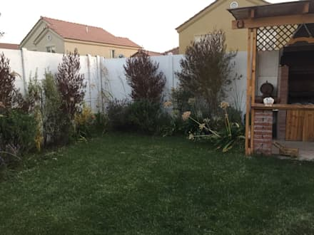 Jardín particular Chicauma: Jardines de estilo rústico por Agroinnovacion paisajismo sustentable