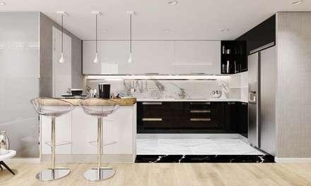 thiết kế nội thất hiện đại:  Tủ bếp by CÔNG TY THIẾT KẾ NHÀ ĐẸP SANG TRỌNG