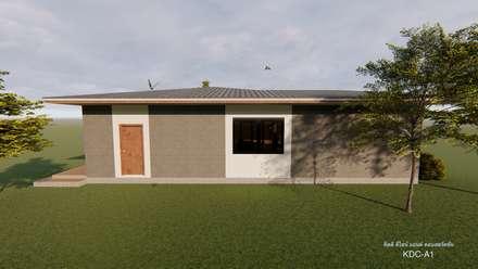 รับออกแบบและก่อสร้างบ้านสไตล์โมเดิร์น ภาคเหนือ:  อาคารสำนักงาน by คิดดี ดีไซน์ แอนด์ คอนสตรัคชั่น