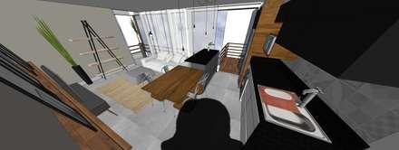 Cozinha kitnet: Cozinhas embutidas  por Form Arquitetura e Design