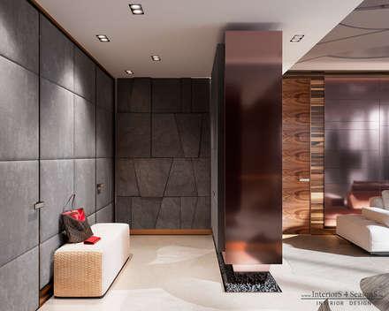 Апартаменты в башне ОКО, Moscow City: Коридор и прихожая в . Автор – InteriorS4SeasonS