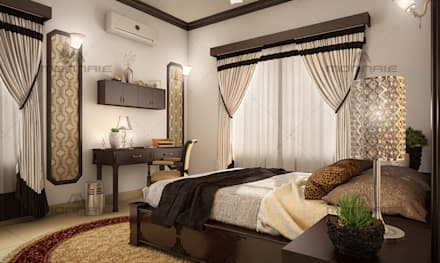 : mediterranean Bedroom by Monnaie Architects & Interiors