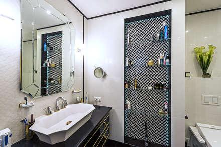 """Реализованный дизайн-проект квартиры в ЖК """"Английский квартал"""": Ванные комнаты в . Автор – Style Home"""