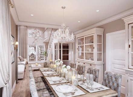Дизайн-проект пентхауса: Столовые комнаты в . Автор – Style Home