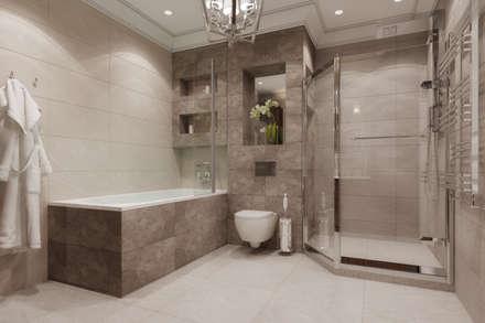Дизайн-проект пентхауса: Ванные комнаты в . Автор – Style Home