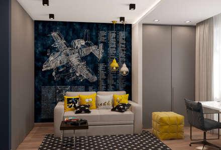 Дизайн-проект квартиры во Внуково: Детские комнаты в . Автор – Style Home