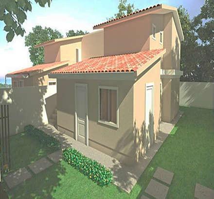 NUESTRA   VIVIENDA  DIGNA  Y  SOCIAL: Casas prefabricadas de estilo  por MIKASALISTA CA