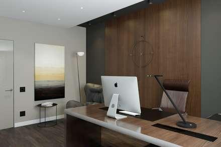 Дизайн-проект квартиры в г. Серпухов: Рабочие кабинеты в . Автор – Style Home