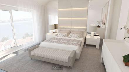 Remodelação de Sala e Quarto: Quartos modernos por Donna - Exclusividade e Design