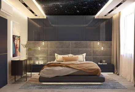 Дизайн-проект квартиры для Гарика Харламова: Спальни в . Автор – Style Home