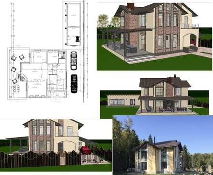 Private house. KP KUTUZOVO_Club_2015-2017: Jardins clássicos por D O M   Architecture interior