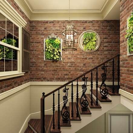 """Дизайн-проект таунхауса в КП """"Суханово парк"""": Лестницы в . Автор – Style Home"""