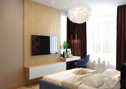 Проект 3-х комнатной квартиры: Спальни в . Автор – Дизайн Студия 33
