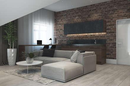 """Дизайн-проект таунхауса в КП """"Кембридж"""": Медиа комнаты в . Автор – Style Home"""