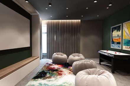 Дизайн-проект загородного дома в пос. Рождествено: Медиа комнаты в . Автор – Style Home