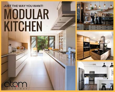 Modular Kitchens:  Kitchen units by Atom Interiors