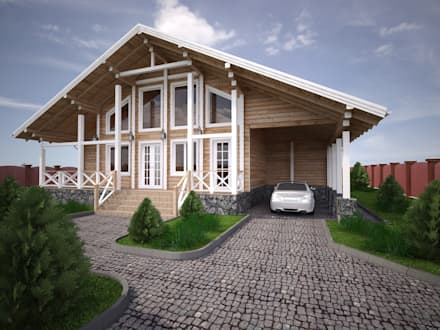 Wooden houses by Style Home