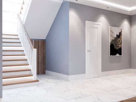 Дизайн-проект загородного дома: Коридор и прихожая в . Автор – Style Home