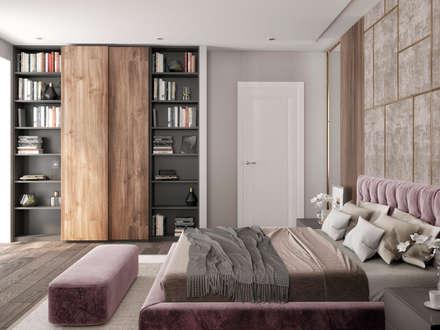 Дизайн-проект загородного дома: Спальни в . Автор – Style Home